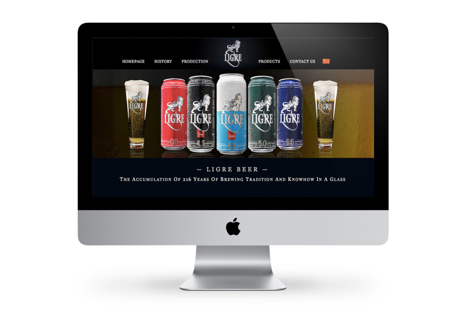 Ligre Beer website